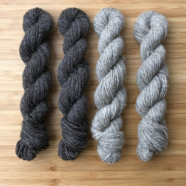 Garthenor Charcoal _ Pebble Mini Skeins